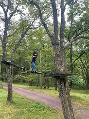 アミーチアドベンチャー軽井沢 樹上のアスレチック ツリートレッキング 中級