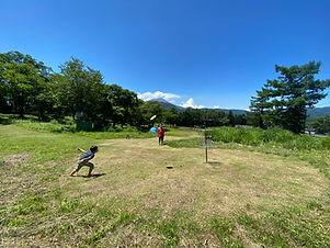 ディスクゴルフ 子ども 体験 軽井沢 遊ぶ