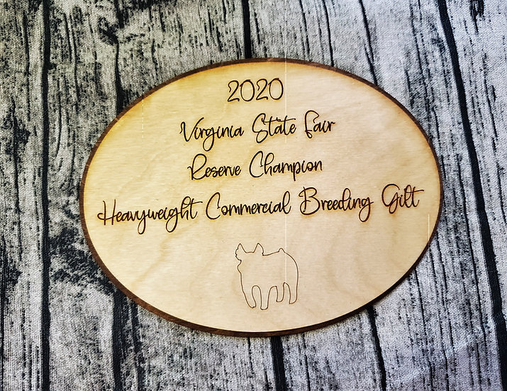 Layered Oval Livestock Award