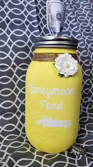 Honeymoon Fund Bank Mason Jar
