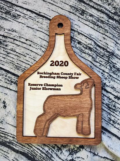 Livestock Lamb Award Layered Ear Tag