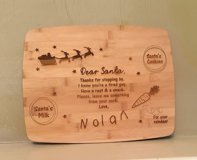 Personalized Santa's Cookies Cutting Board