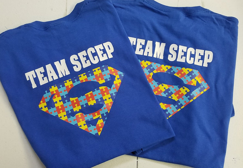 Team SECEP Autism Walk Shirts