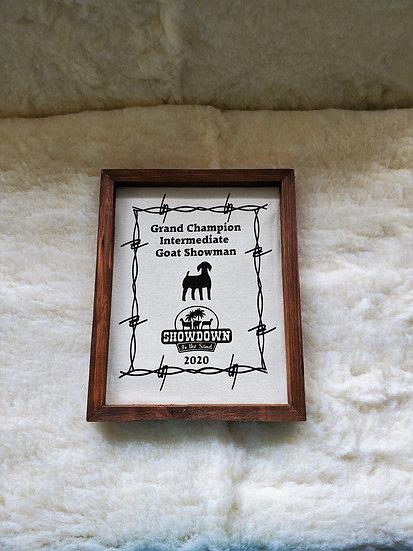 Canvas Framed Awards