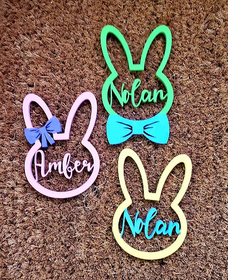 Custom Easter Basket Spring Name Tags