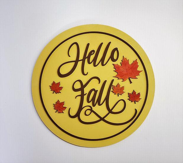 Hello Fall Door Hanger - 5 leaf