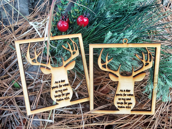 Christians in Camo Fundraising Deer / Buck Hunting Christmas Ornament