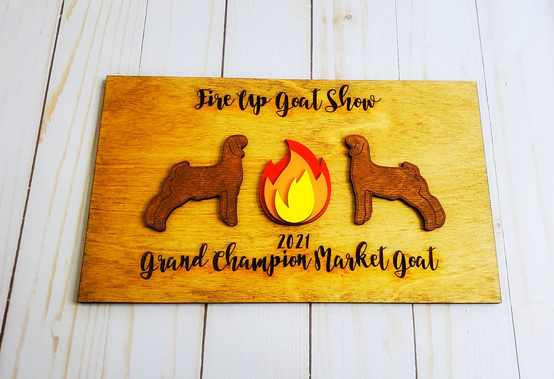 Layered Fire Plaque Livestock Award