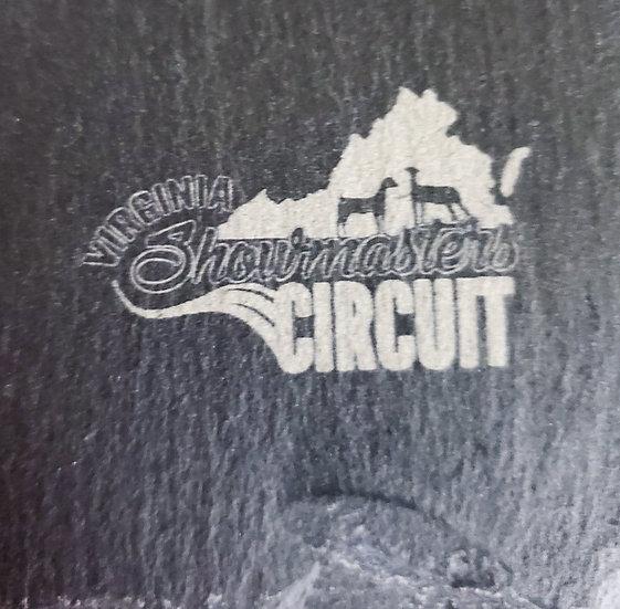 Logo Corner Engraved Charcuterie Board Slate