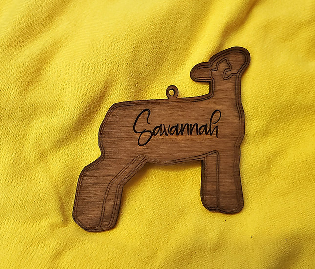 Personalized Show Market Lamb / Wether / Ewe Christmas Ornament