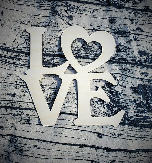 DIY Wooden Love Cut Out