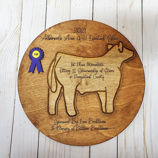 Deep Engrave Round Layer Livestock Species Award