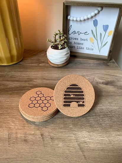 Bee Mix & Match Cork Coaster Set