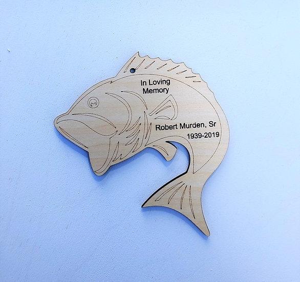 Bass Fish Personalized Ornament