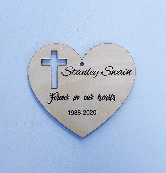 Heart Shaped Memory Personalized Ornament
