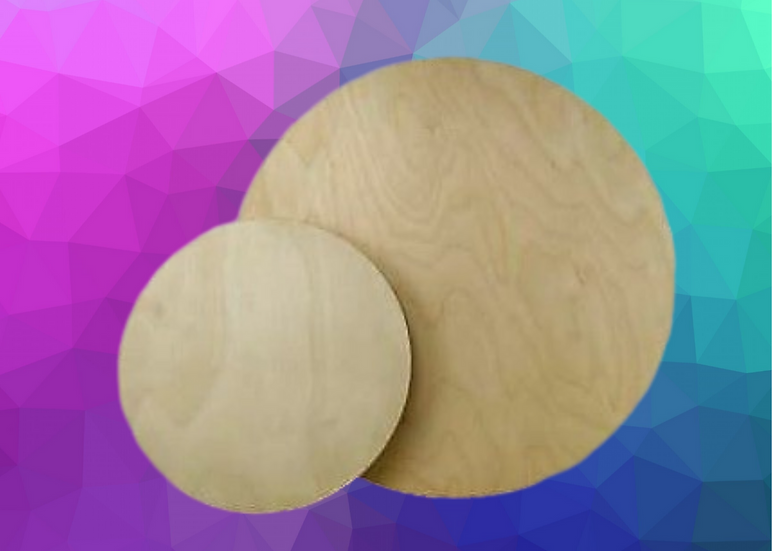 "DIY Wood Round 12"" x 1/4"""