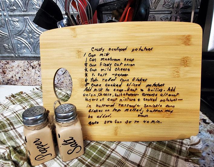 Custom Handwriting Engraved Cutting Boards