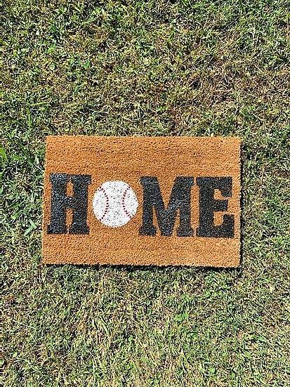 Baseball Home Door Mat
