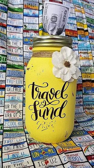 Travel Fund Bank Ball Mason Jar