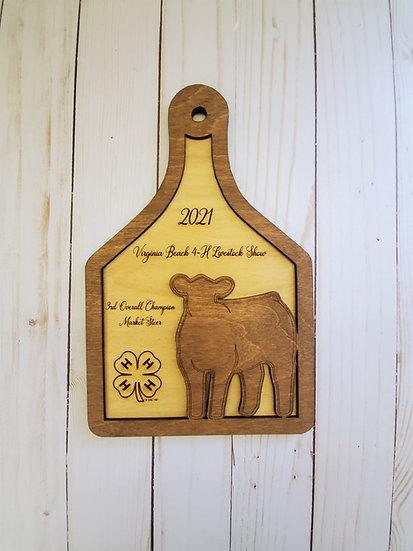 Beef Heifer Layered Ear Tag Award