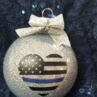 Thin Blue Line Christmas Ornament