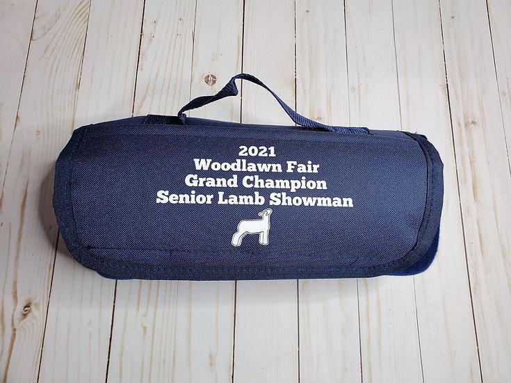 Roll Up Livestock Award Blanket for Travel