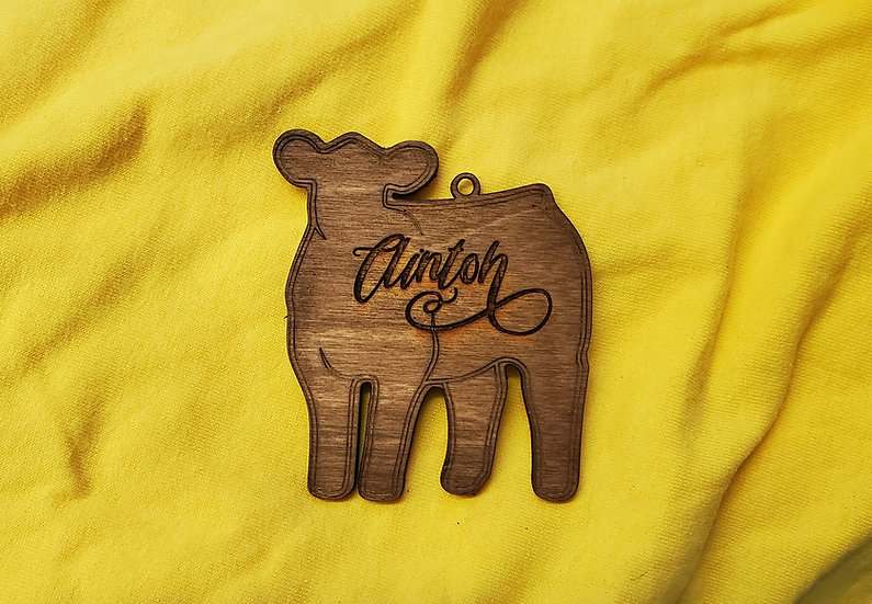 Personalized Steer / Heifer / Cattle Livestock Christmas Ornament
