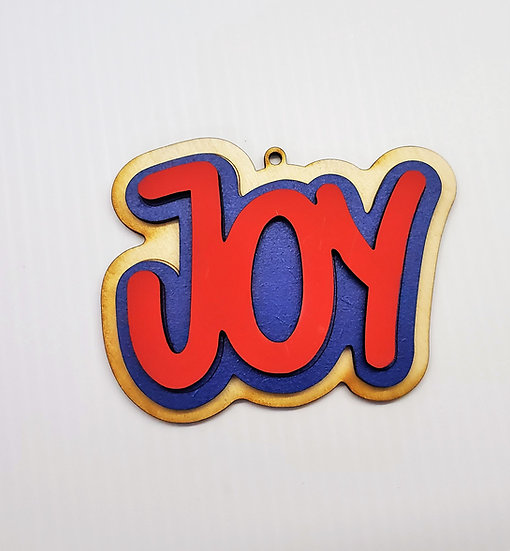 Joy Sugar Cookie Wooden Christmas Ornament