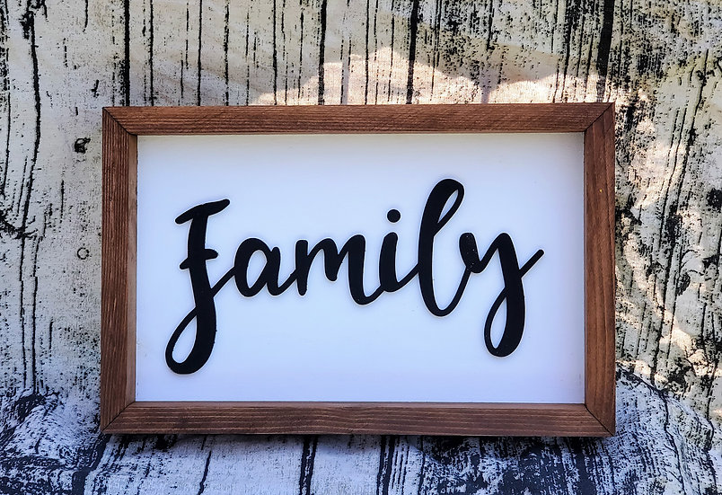 Family Farmhouse Framed Sign