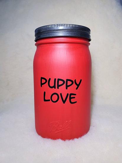 Puppy Love Dog Treat Mason Jar