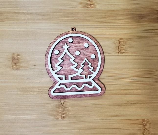 Snow Globe Christmas Gingerbread Cookie Style Ornament