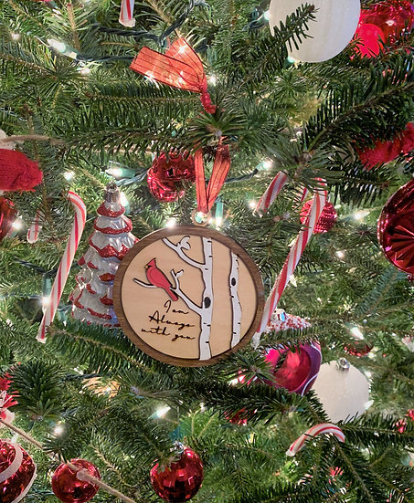 Cardinal Loved One Memorial Christmas Tree Holiday Ornament