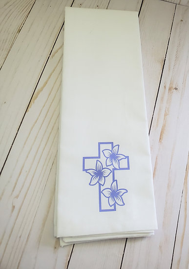 Easter Lily Cross Flour Sack Towel