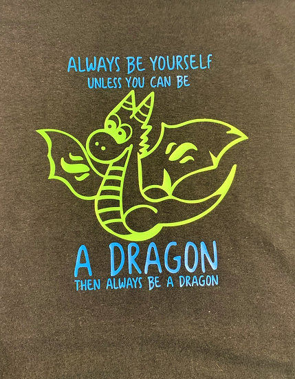 Always Be A Dragon Black Youth T-Shirt
