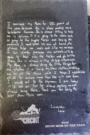 Handwriting Engraved Slate Charcuterie Board Gift or Award
