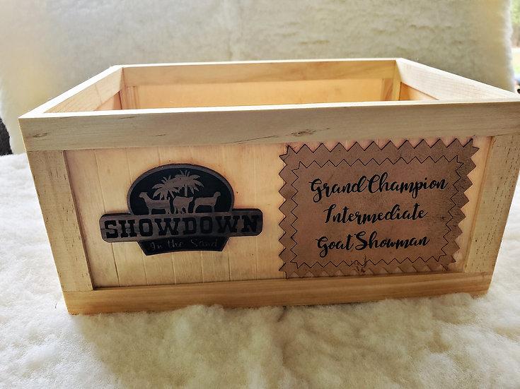 Custom Crate Award / Gift Leather Insert