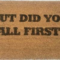 Did You Call First Door Mat