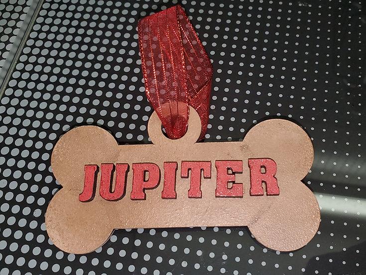 Dog Bone Biscuit Custom Ornament