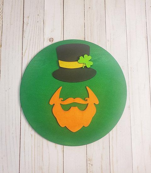 Leprechaun Irish Red Beard Top Hat St Patrick's Sign