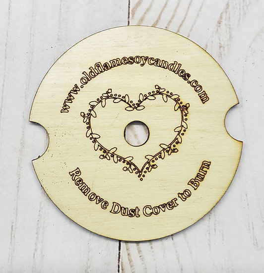 Custom Wooden Candle Dust Cover Sets of 18