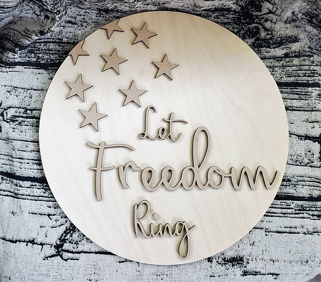 DIY Let Freedom Ring Flag