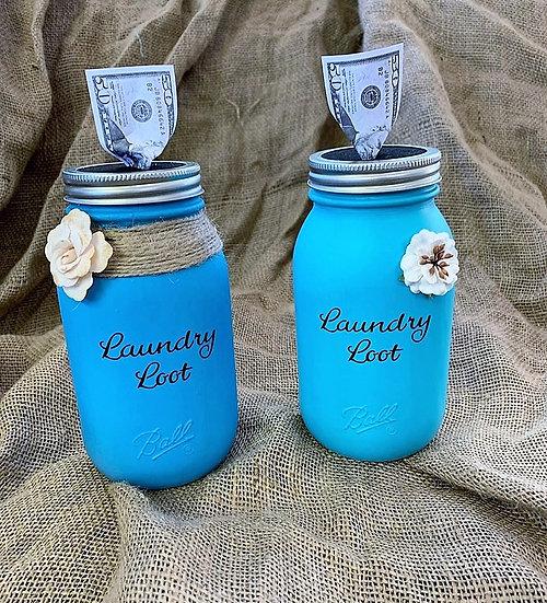 Laundry Loot Bank Ball Mason Jar
