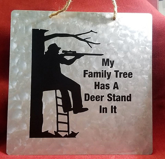Family Tree Deer Stand Sign