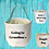Thumbnail: Personalized Canvas Tote / Basket with handle