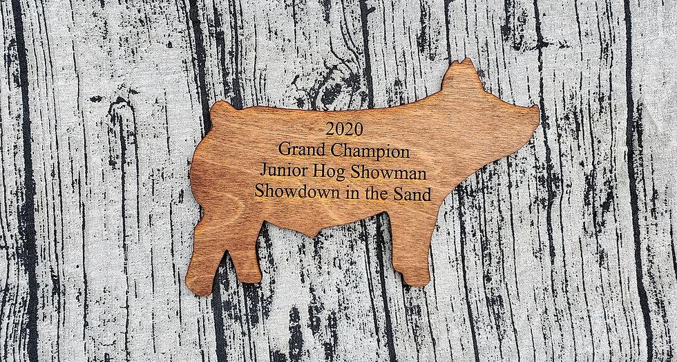 Wooden Hog / Pig Livestock Award