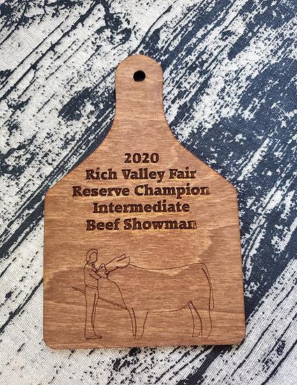 Beef Cattle Showman Livestock Award