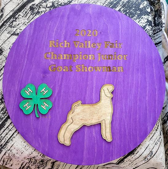 Purple Round 3D Livestock Award