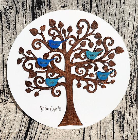 Family Tree Bird Sign