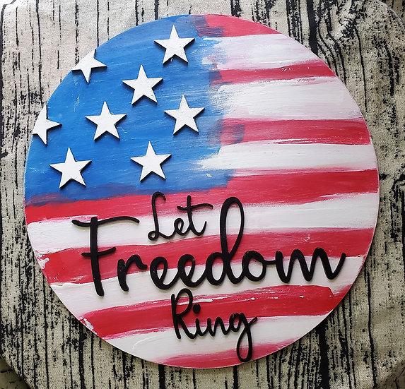 American Flag Freedom Ring Horizontal