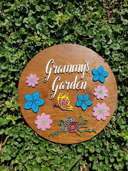 Custom Grammy's Garden Sign